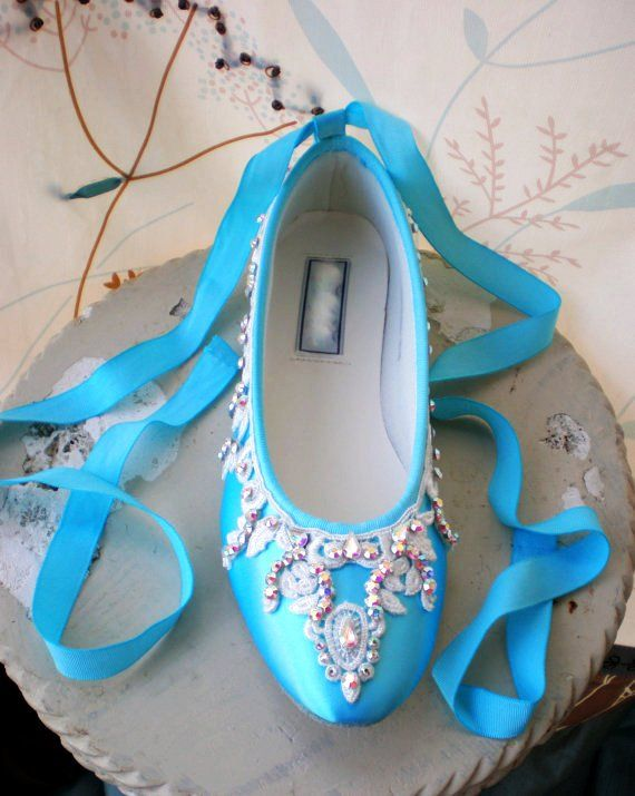Flat Wedding Shoes | ... Wedding Shoes: The Beauty Of The Sky /