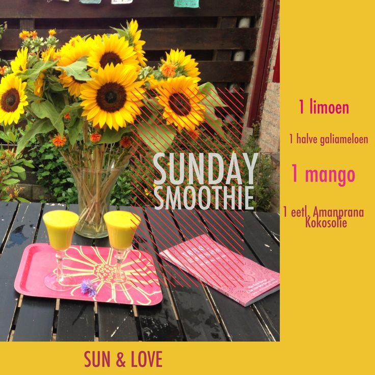 Sunday smoothie met meloen, mango en Amanprana kokosolie