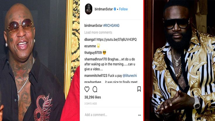 Birdman posted a picture of himself laughing after Rick Ross got Hospitalized. Rick Ross is on life support