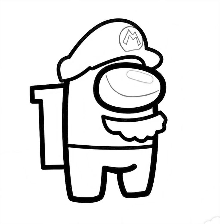 Among Us Mario Bros Mario Bros Mario Coloring Pages For Kids
