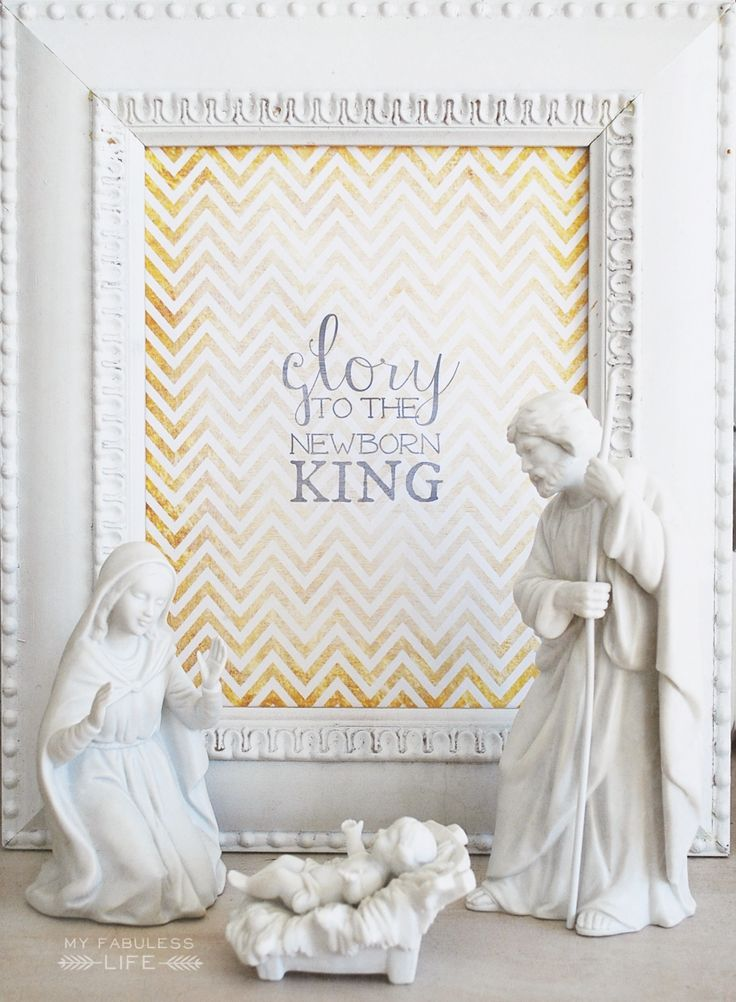 Glory to the newborn King {printable}