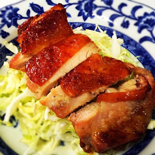 3月9日夕食メニュー ⚫︎鶏肉のにんにく醤油焼き ⚫︎和風サラダ ⚫︎卵の味噌汁 - 6件のもぐもぐ - 鶏肉のにんにく醤油焼き by 下宿hirota&メゾンhirota