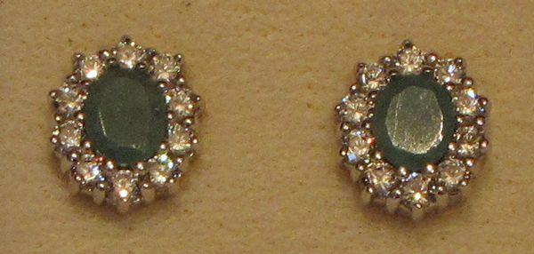Ohrstecker Silber – Smaragd