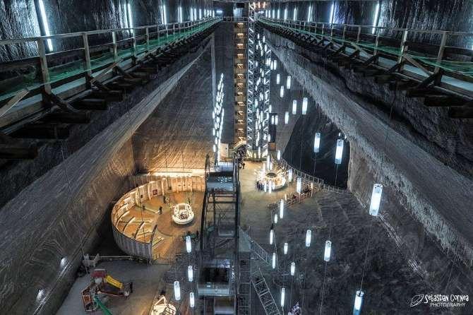 Romanian salt mine on Google Street View