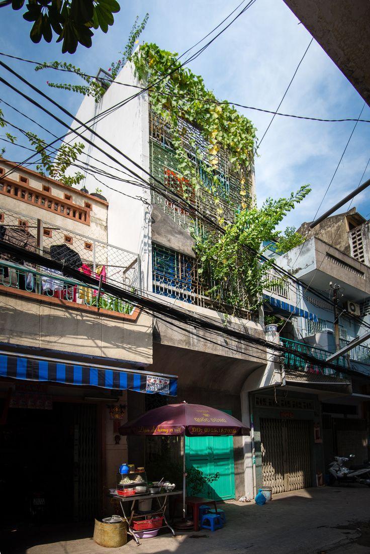 Abandoned Saigon Building Becomes Unique Family Home - http://freshome.com/unique-family-home-saigon/