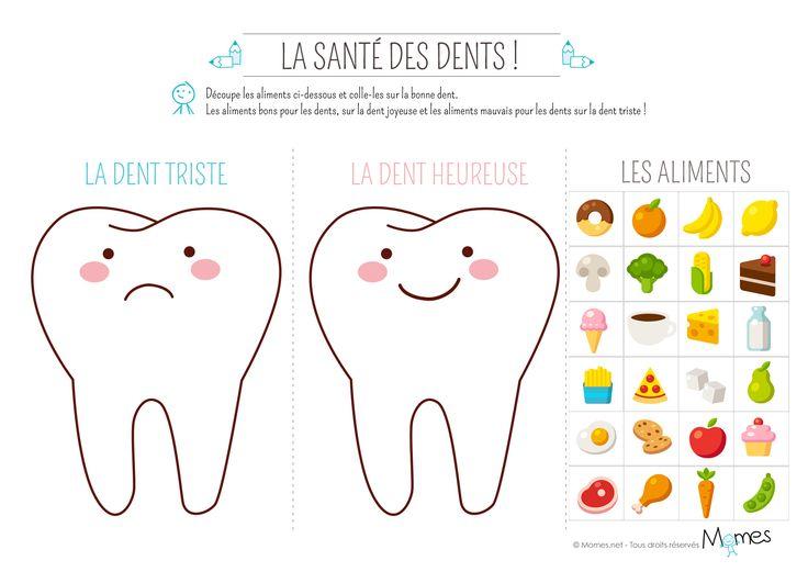 Certains aliments abiment l'email des dents ! Il faut par exemple éviter de manger trop sucré. Avec ce petit exercice amusant, vous apprendrez quels aliments rendent vos dents heureuses !