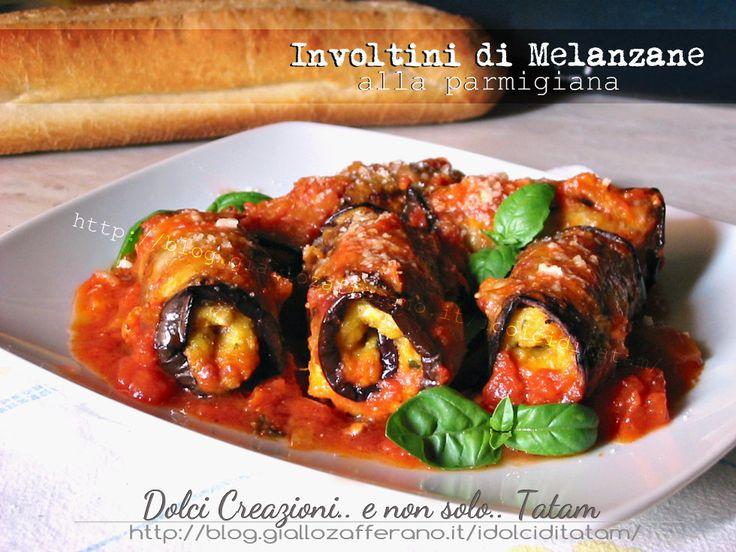 Involtini di Melanzane alla parmigiana, facili, veloci e gustosi per una ricetta vegetariana: le melanzane grigliate, sono farcite con un ripieno a base di