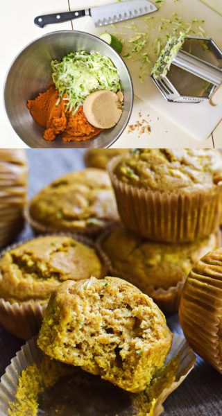 (SO SOFT!) PUMPKIN ZUCCHINI MUFFINS from Rachel Schultz