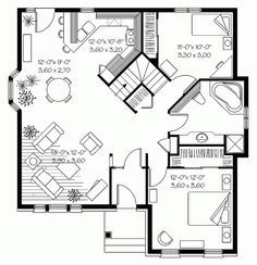 25 Best Ideas About Small House Floor Plans On Pinterest Small House Plans Small Home Plans And 2 Bedroom Floor Plans