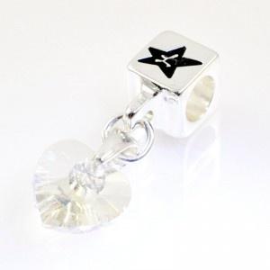 Charm with SWAROVSKI ELEMENTS crystal cube pendant Crystal Diamond, silver version http://store.lovya.net/letters-from-your-heart-lovya/347-charm-wiszacy-z-krysztalem-swarovski-elements-serduszko-w-kolorze-krysztal-diamentowy-wersja-srebrna.html