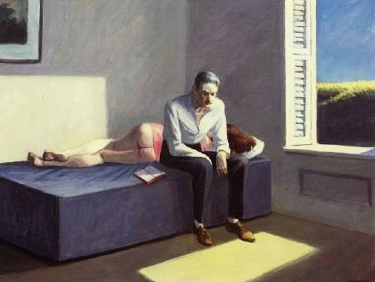 <철학으로의 탈선(Excursion into Philosophy)>, 에드워드 호퍼(Edward Hopper), 1959, 캔버스에 유채.