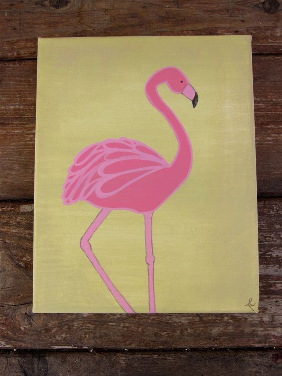 295 best easy acrylic painting ideas images on Pinterest | Flamingos ...