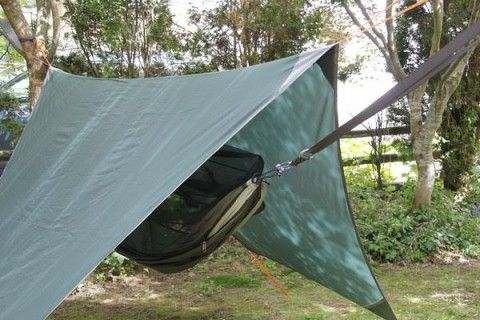 Lightweight Hammock Rain Fly – Browse this page for information about a lightweight hammock rain fly to protect you from rain while camping.
