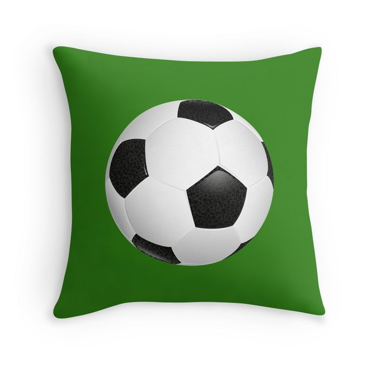 If you love playing and watching Soccer, then you will love this Soccer Ball throw pillow.