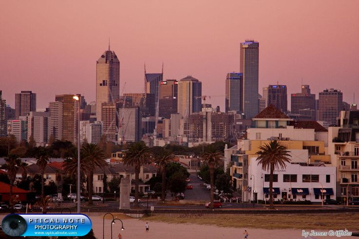 Melbourne Sunset by James Griffiths on 500px