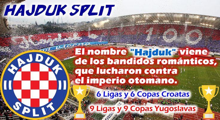 El Hajduk Split es uno de los dos grandes de Croacia, junto con el Dinamo Zagreb. Hasta 2017 logro 6 ligas y 6 copas de Croaciá, y 9 ligas y 9 copas de la antigua Yugoslavia. Como anecdota curiosa: Su nombre hace referencia a los bandidos que lucharon contra el imperio otomano.  #HajdukSplit #Split #Croatia #Hrvatska #Croacia #Futbol #Fussball #Football #Soccer #ClubesDelMundo