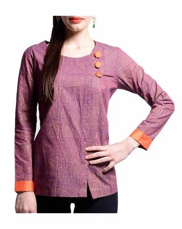 Printed Top With Buttons | ANS By Astha & Sidharth