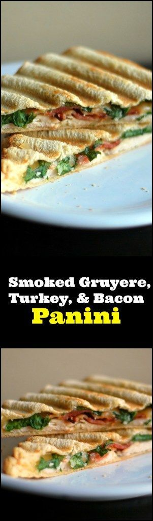 We had this Smoked Gruyere, Turkey, & Bacon Panini for lunch today and it was one of the best sandwiches we have EVER had in our lives!  OMG!  The best leftover Thanksgiving turkey recipe ever!