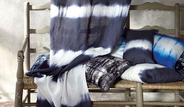 Gordijnen kussen tie dye