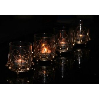 Gold Glass & Wire Votive - The Chic Nest ON SALE just $9.95 each http://thechicnest.com.au/