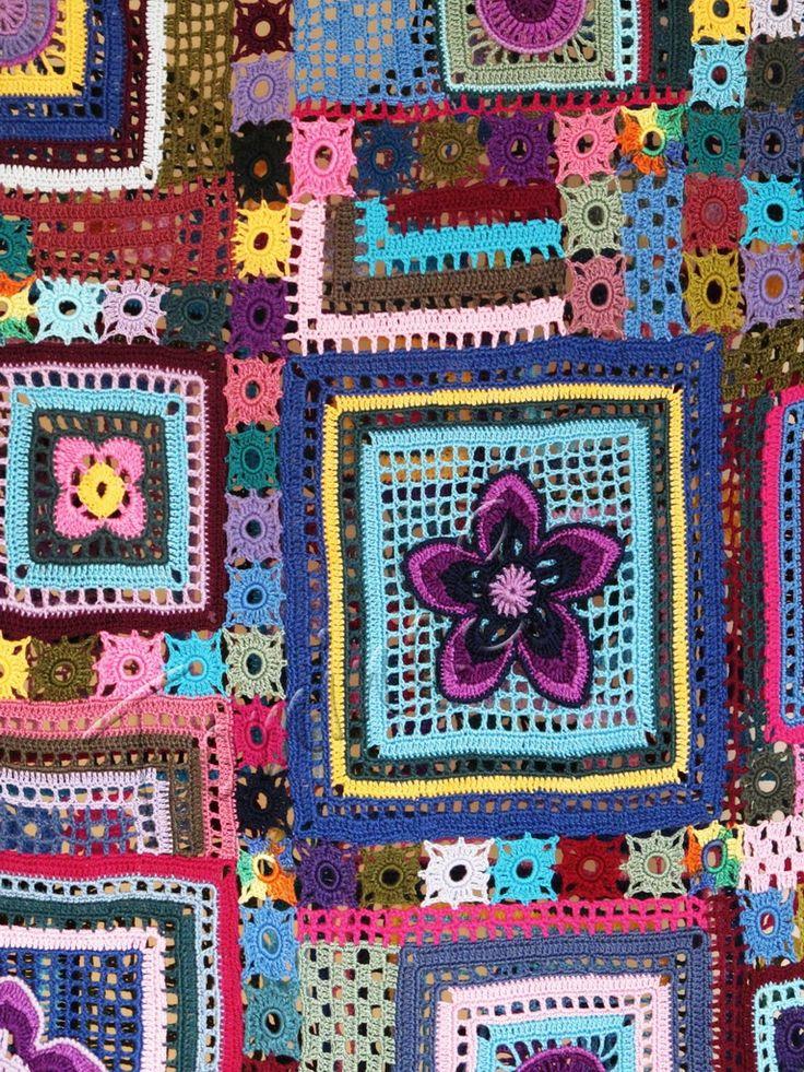 """""""Gypsy Queen"""" (crochet motifs, filet lace top, lace tunic, summer crochet top)"""