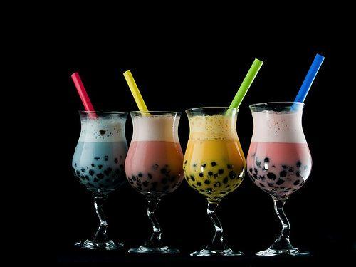 BUBBLE TEA!!!!!! yumyum! tapioca pearls in any type or milk or tea!