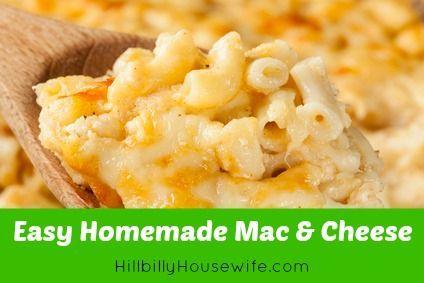 Macaroni and Cheese | Recipe | Mac cheese, Homemade and Hillbilly