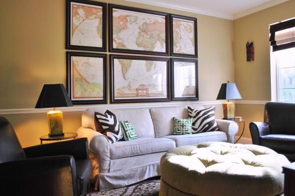 map art: Frames Maps, Decor Ideas, Living Rooms, Dreams Houses, Plays Rooms, Paintings Colors, Houses Ideas, World Maps, Media Rooms