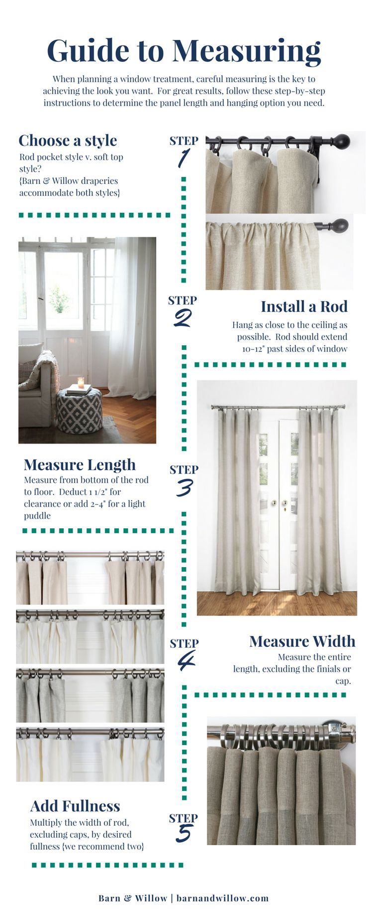 The 5 Step Guide to a Beautiful Drapery| Measure | Install ...