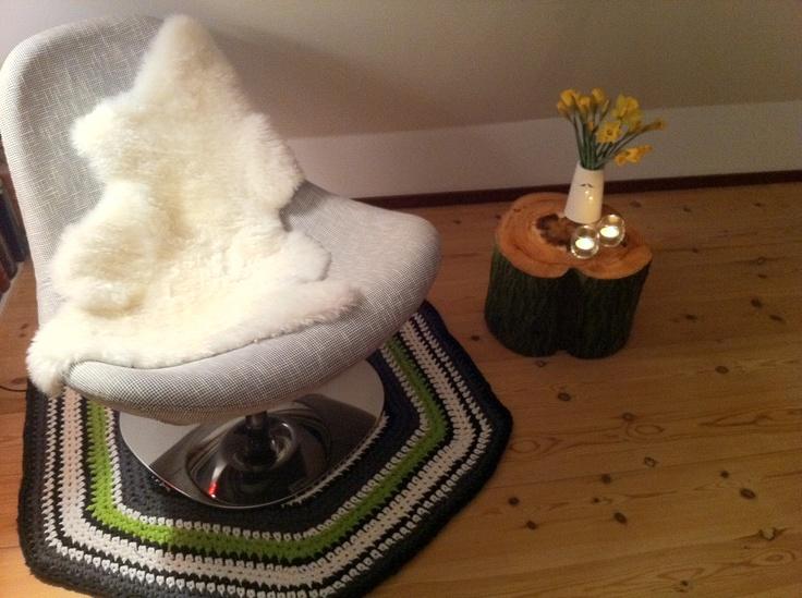 Hæklet tæppe i zpaghetti