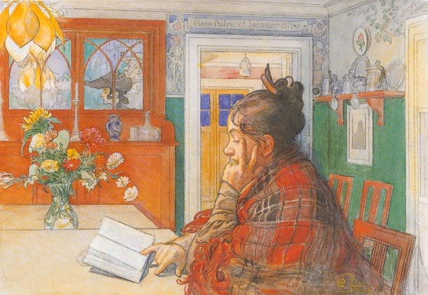 Carl Larsson (1859-1928): Karin Reading