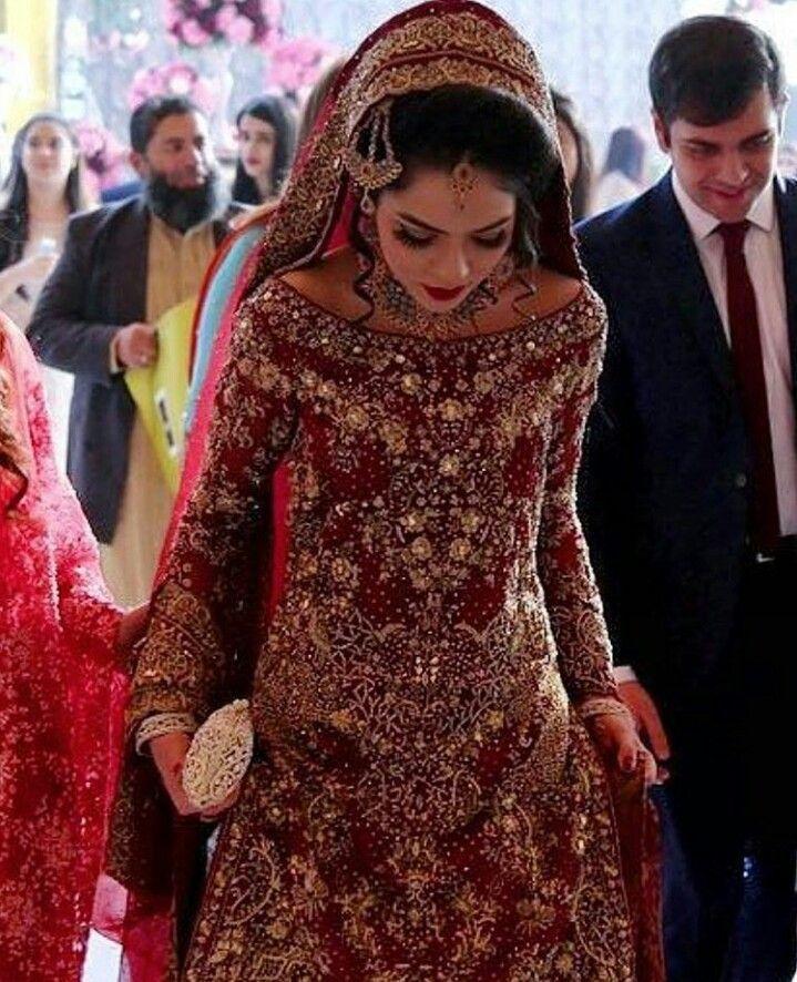 Nobel Das Brautkleid Brautkleid Nobel Pakistanische Hochzeitskleider Pakistanische Brautkleider Orientalische Kleidung