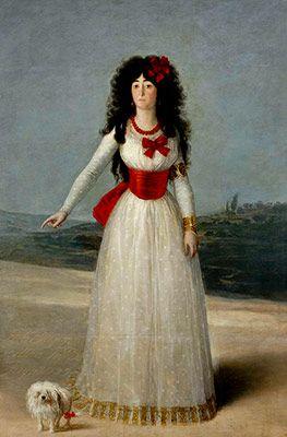 Francisco de Goya. La Duquesa de Alba vestida de blanco