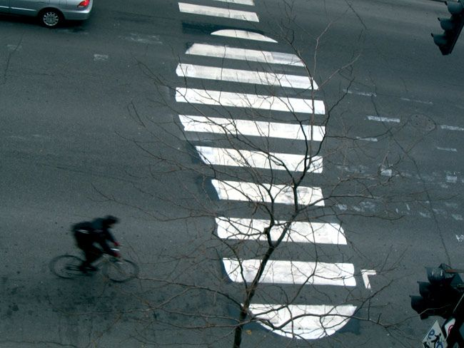 By Roadsworth.: Street Artists, Street Art Utopia, Urbanart, Foot Prints, Urban Art, Magazines Art, Footprint, Zebras, Streetart