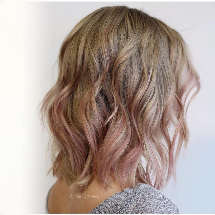 HAIR BY JAELYN Master Stylist (@hairbyjaelyn) on Instagram: Full set of baby lights and soft pink tones for my rad client! With #wellainstamatic #pink shades you don't have to commit to a muddy fade out. Enjoy the fun tones and then have beautiful blonde afterwards!