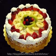 Torta alla frutta, ricetta classica, ma sempre buona e fresca. Piace a tutti !! Vi propongo la ricetta sia con la gelatina che senza la gelatina.