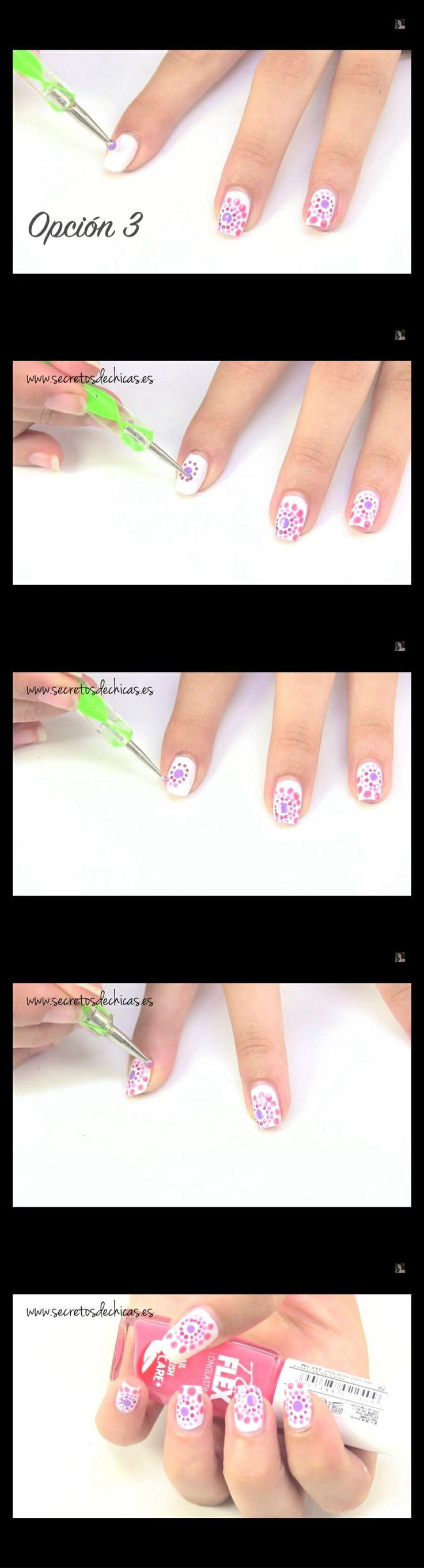 Diseño de uñas con puntos #secretosdechicas