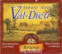 Label van Abbaye du Val-Dieu Brune