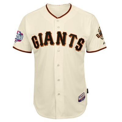 san francisco giants majestic mlb hunter pence adult authentic cool base home world series 2012 patch jersey ivory