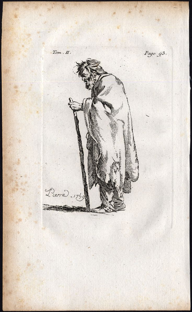 The Prints Collector :: One of the numerous beggars (Les Gueux) by Jacques Callot.