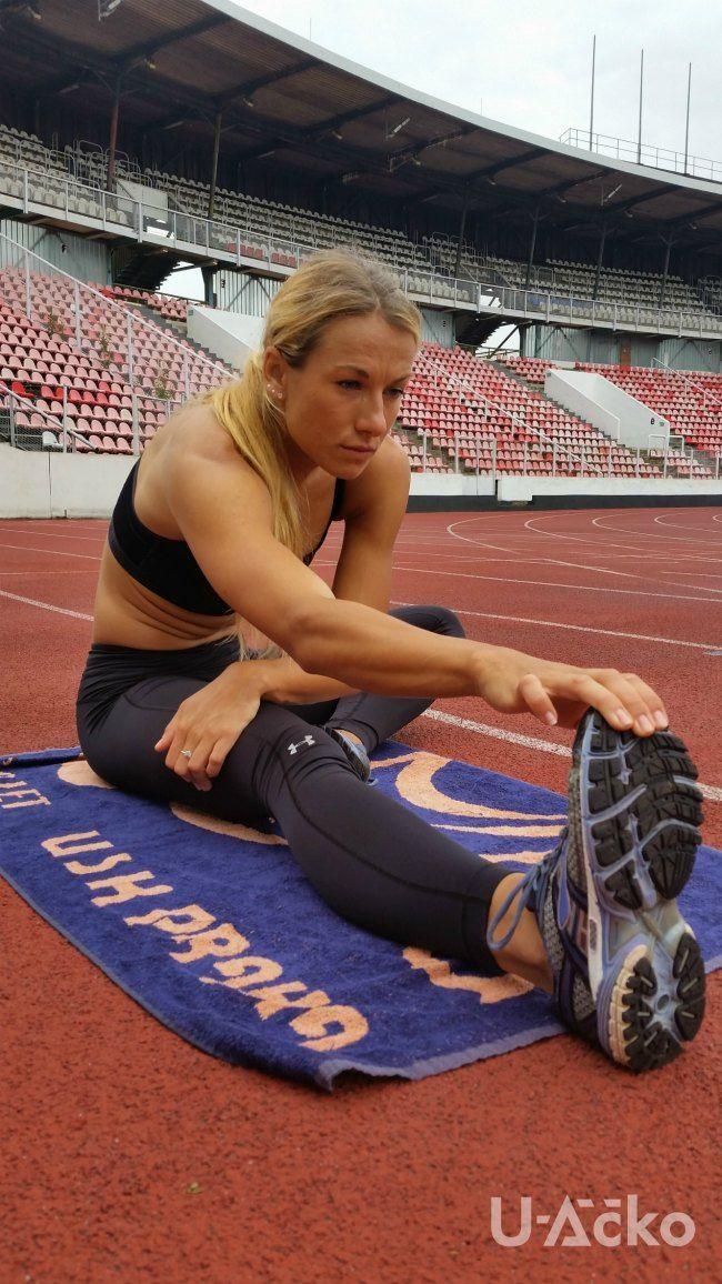 Bára Procházková, česká sprinterka, nosí Under Armour