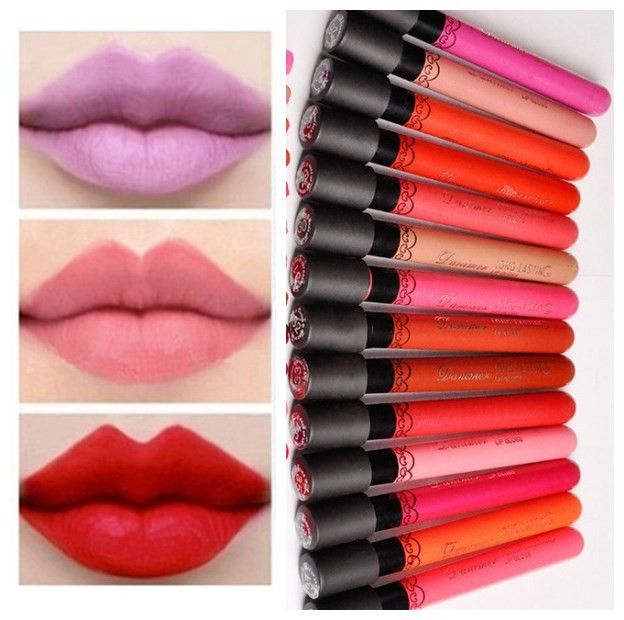Big Sale Liquid Lipstick Hot Sexy Makeup Lips Lasting Elegant Smooth Lipsticks Batom Sexy Sweet girl Lip Lipstick Beauty D13 * Details on product can be viewed by clicking the image