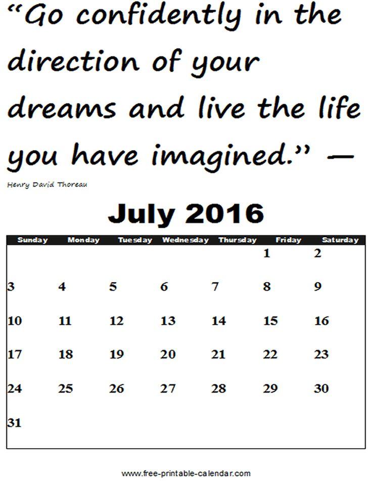 1000+ ιδέες για July 2016 Calendar Template στο Pinterest - julian calendar template