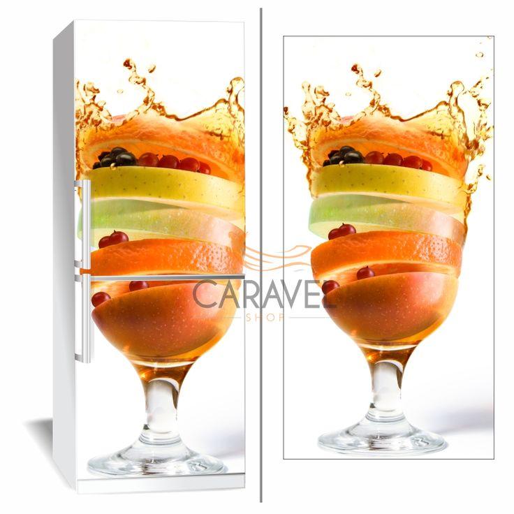 Αυτοκόλλητο Ψυγείου Φρούτα σε ποτήρι