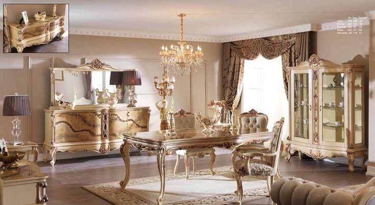 Monaliza Lüks Klasik Yemek Odası Takımı.  #YemekOdası #DiningRoom #Decoration #Ev #Dekorasyon #Moda #Mobilya #Furniture