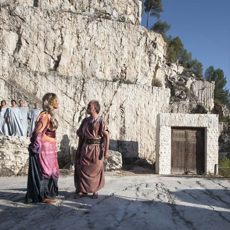 Scenography of Greek tragedy Medea in an old marble quarry by COR asociados Miguel Rodenas   Jes?s Olivares