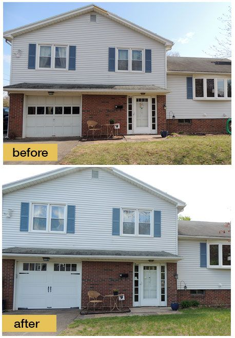 1000 images about split level remodels on pinterest for Best windows for a garage