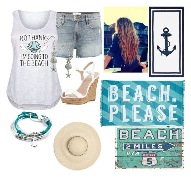 """beach style"" by annabethjames on Polyvore featuring Frame, Charles by Charles David, Pottery Barn, Giani Bernini, Lizzy James, Nordstrom Rack and plus size clothing"