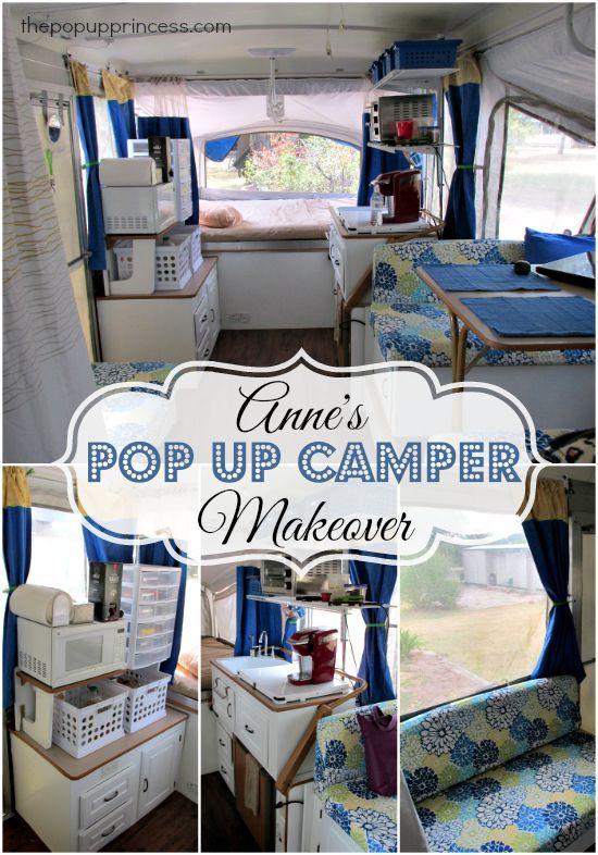 Anne S Pop Up Camper Makeover Camper Makeover Remodeled