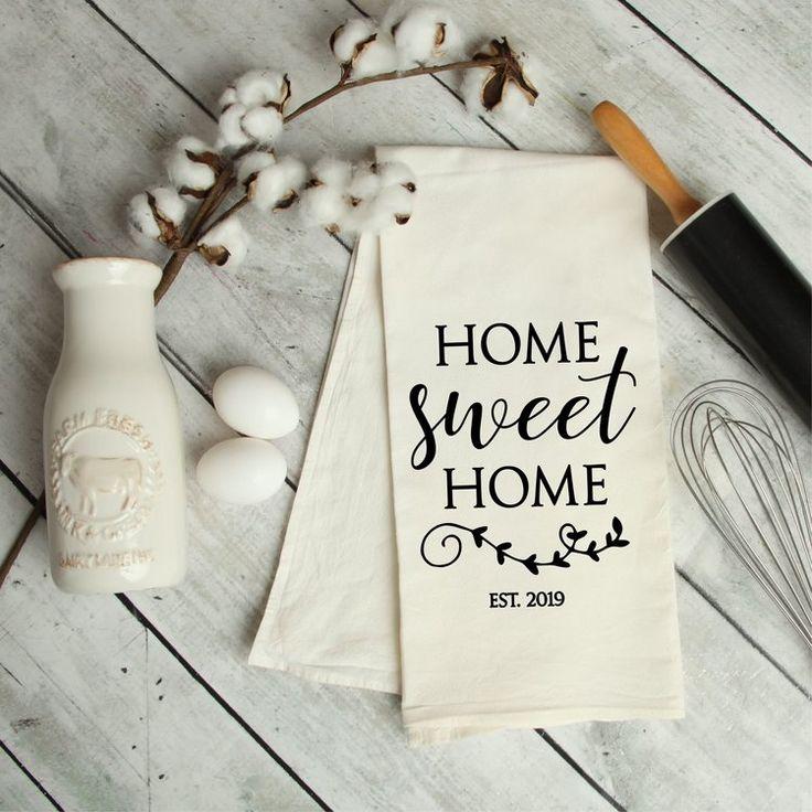 Home Sweet Home Flour Sack Tea Towel
